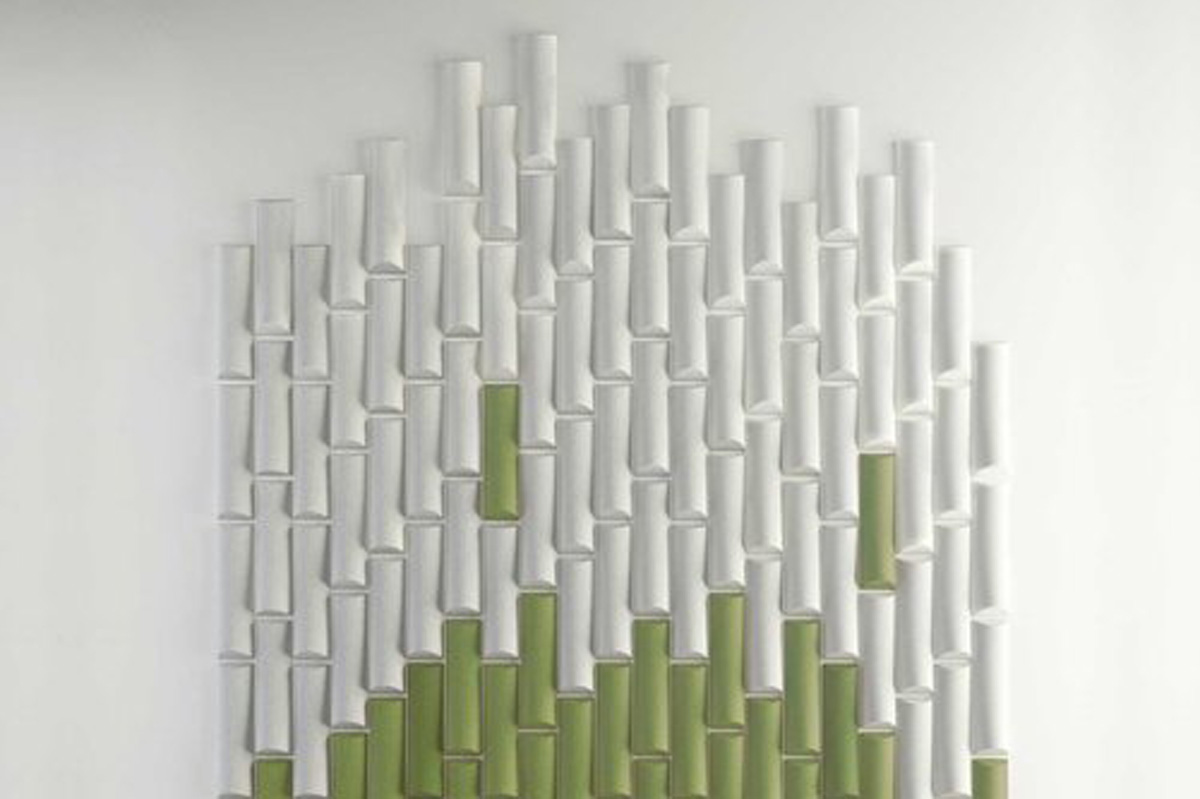 Bamboo acoustic wall panel