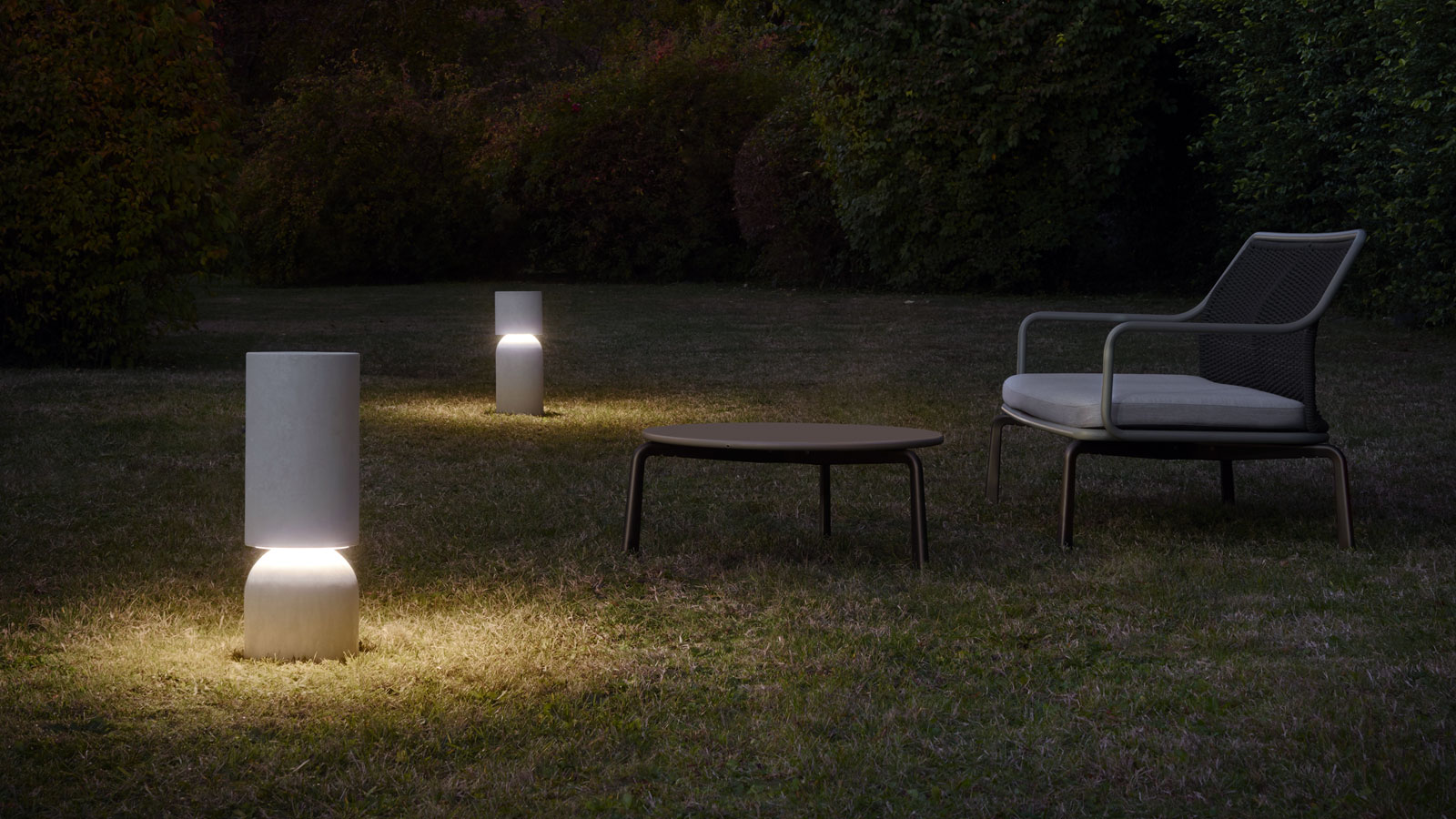 Nui outdoor lighting from Luceplan