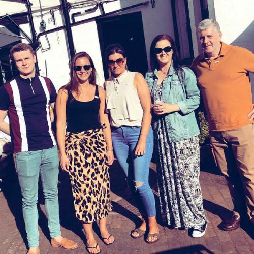 Elliot, Harriet, Gemma, Sharon and David